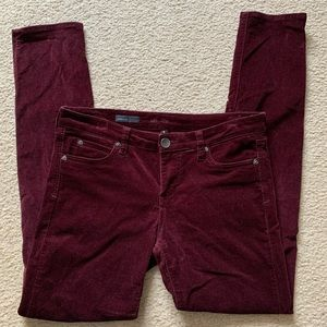 Kut from the Kloth Diana burgundy corduroys